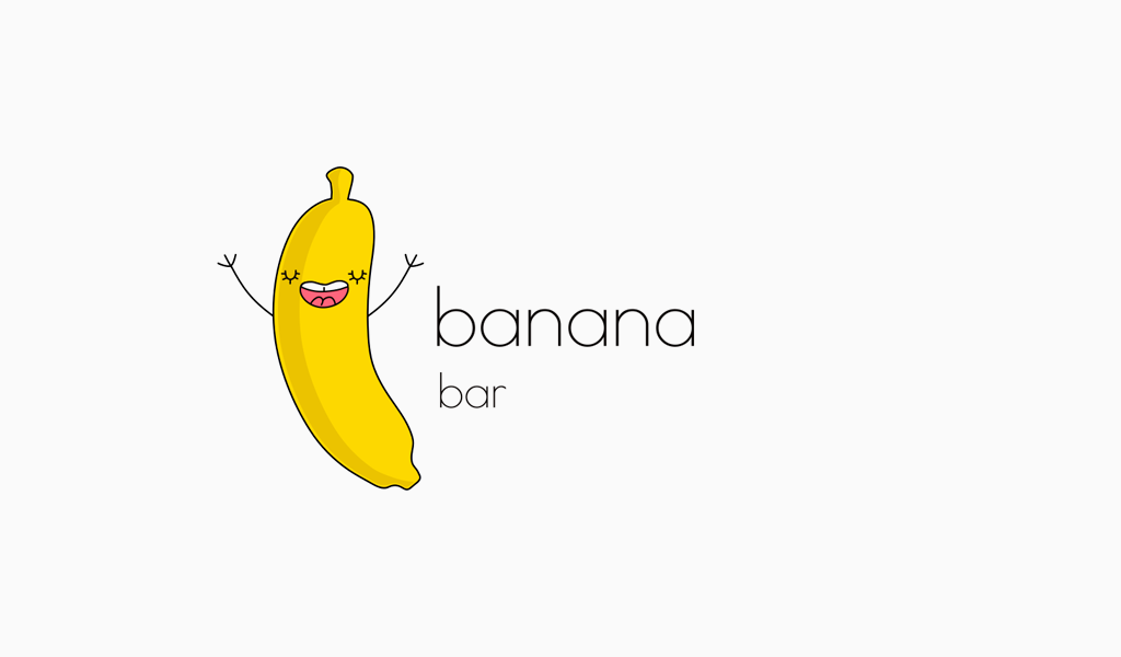 banana mascot logo
