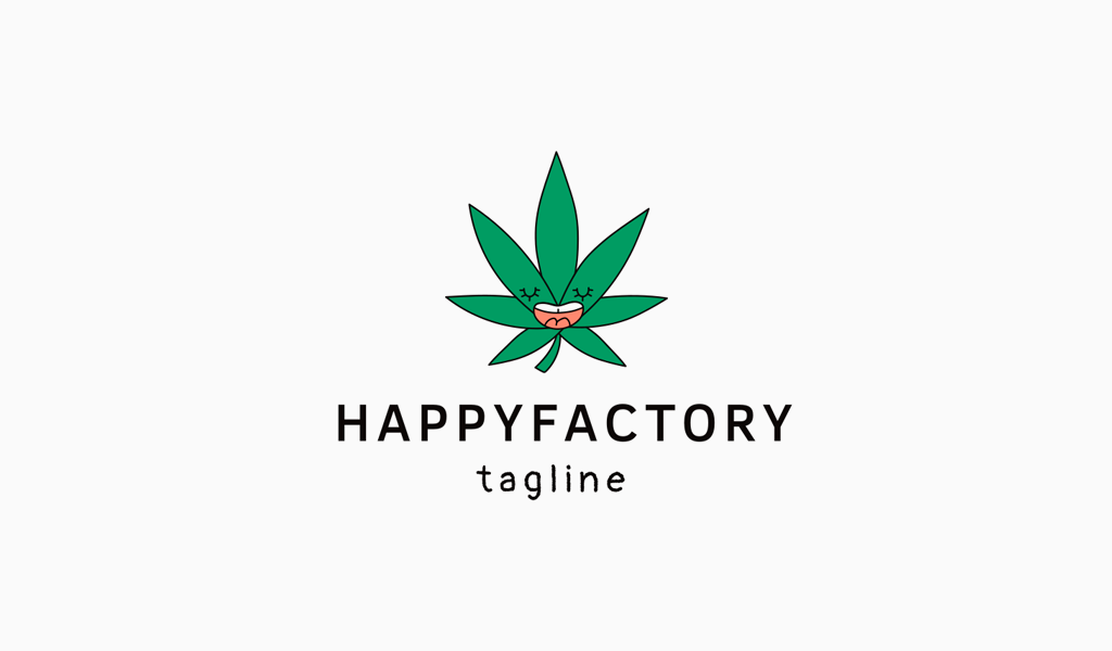 Cannabis Leaf Logo mascot