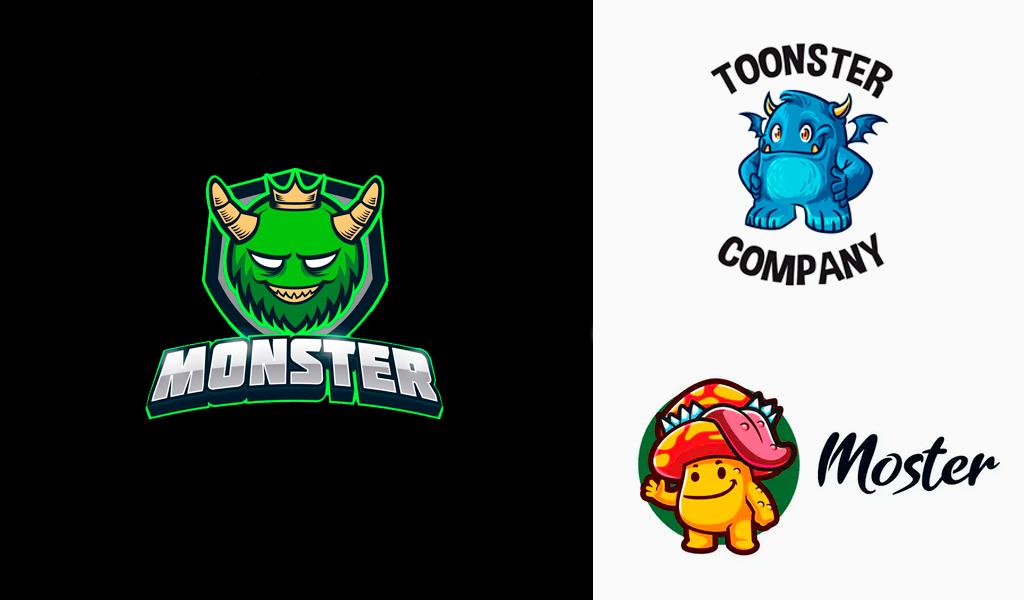 monsters mascot logos