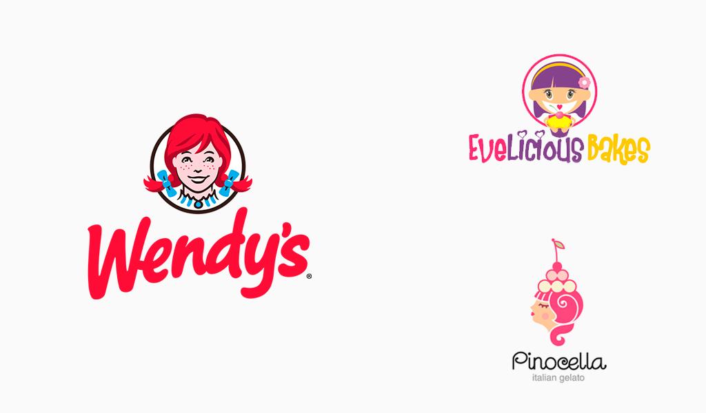 girl mascot logos