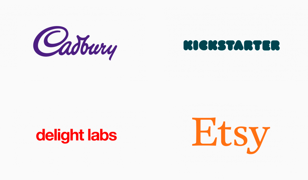 colored font logos