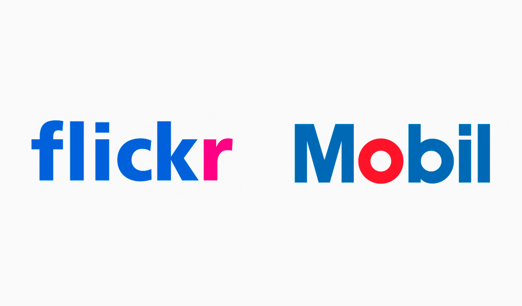 Flickr and Mobil logos