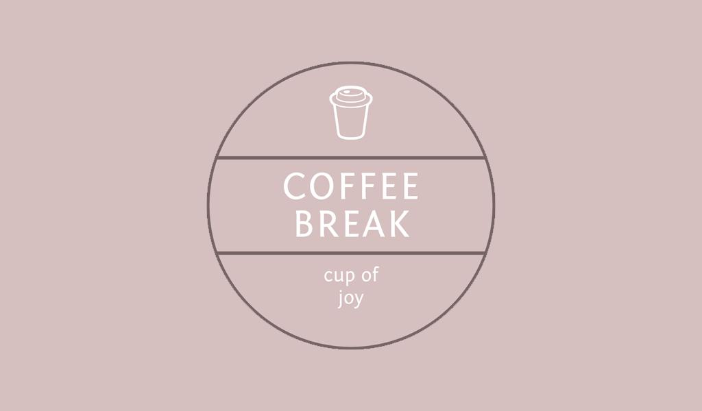 Cup Of Coffee Circle Logo