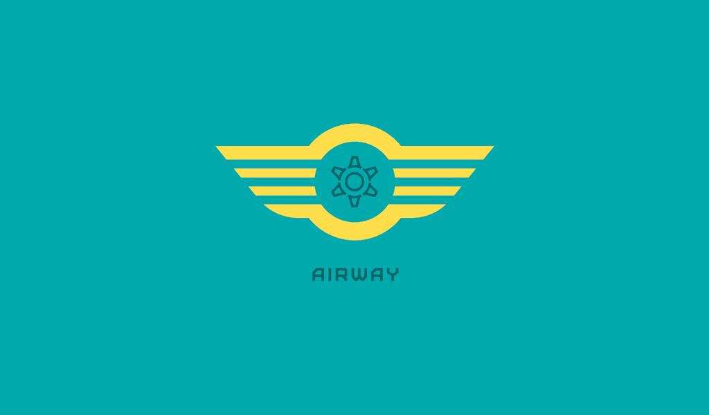 Plane horisontal lines Logo