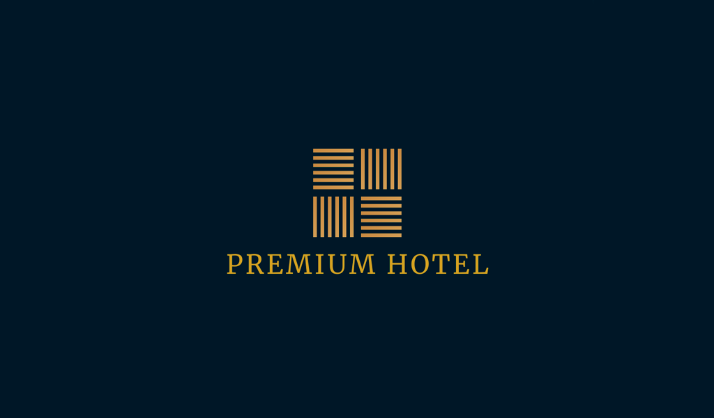 Hotel horisontal lines Logo