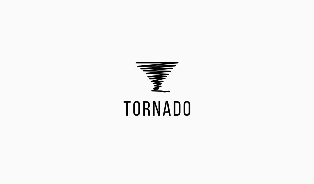 Tornado horisontal lines Logo