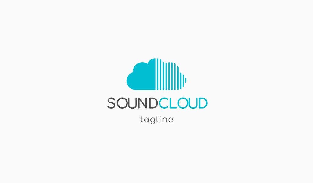 Cloud vertical lines Logo