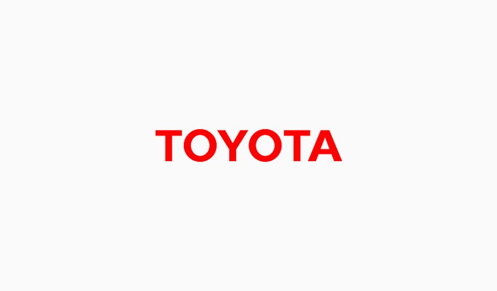 Fuente del logo de Toyota
