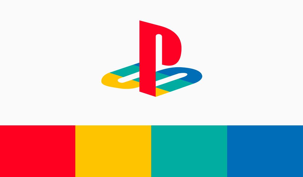 Cor do logotipo do Playstation