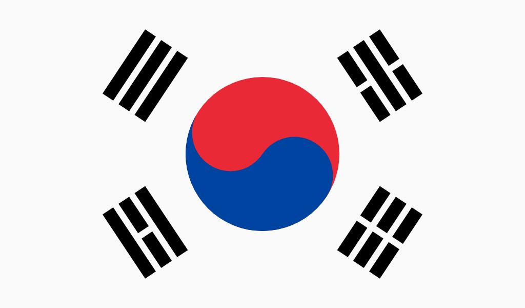 Südkoreanische Flagge