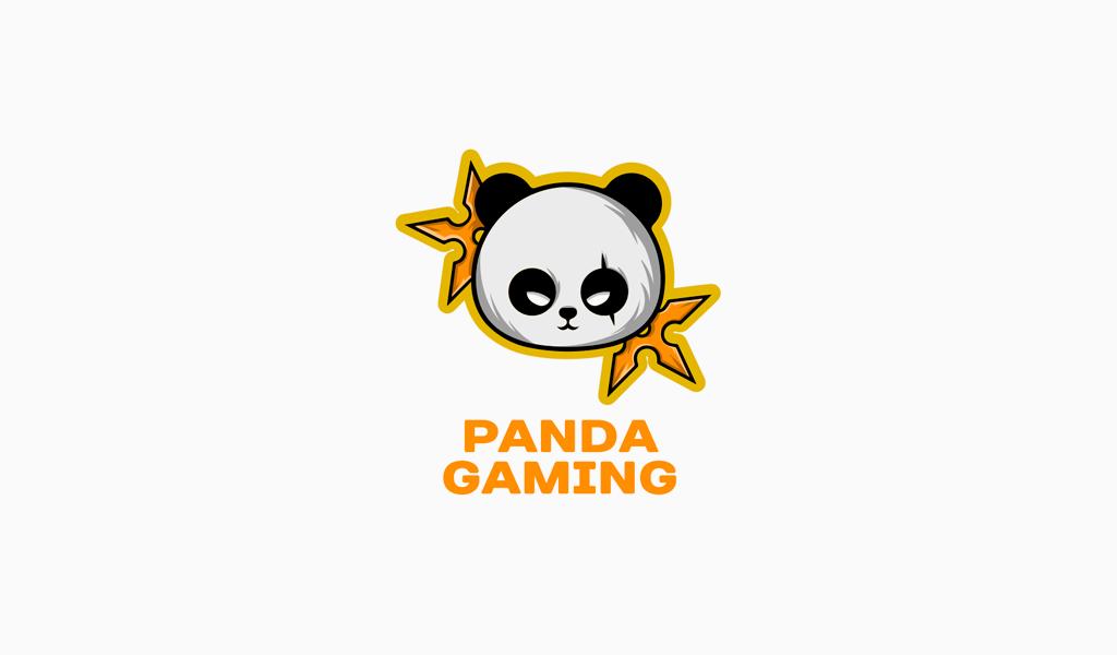 panda mascote anime logo