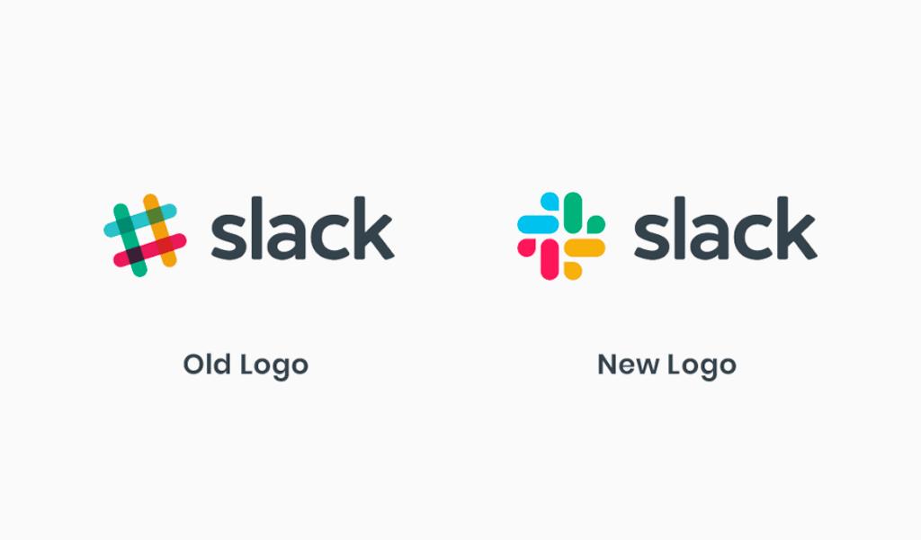 slack: altes und neues Logo