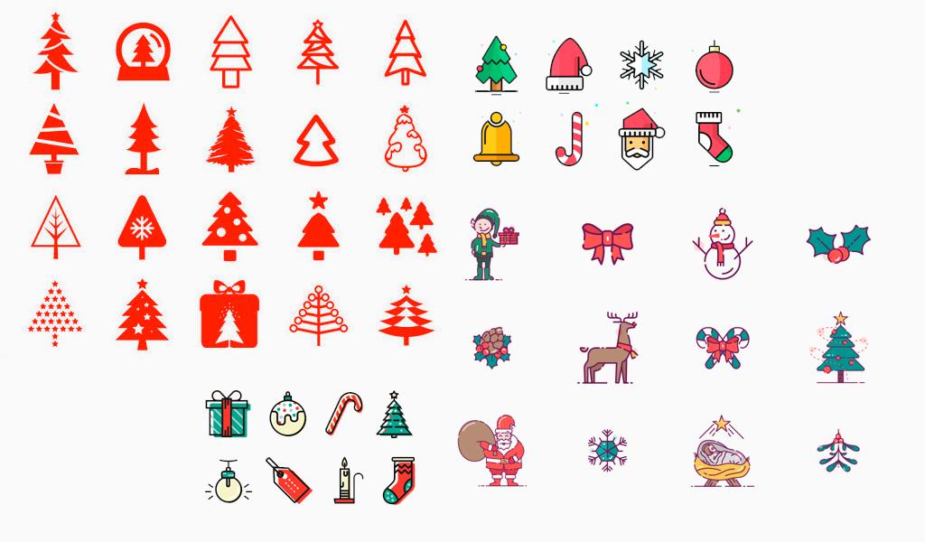 iconos del logotipo de las vacaciones