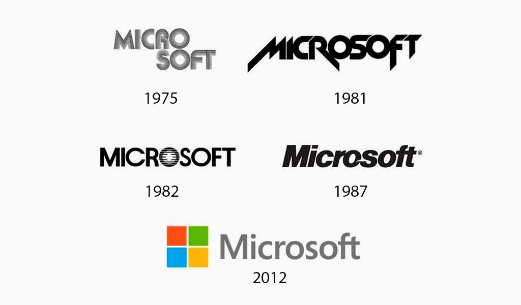 Еволюція логотипу Microsoft