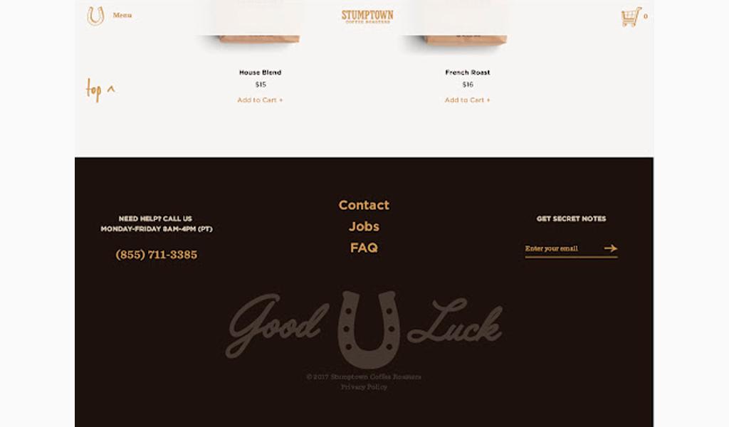 Footer website