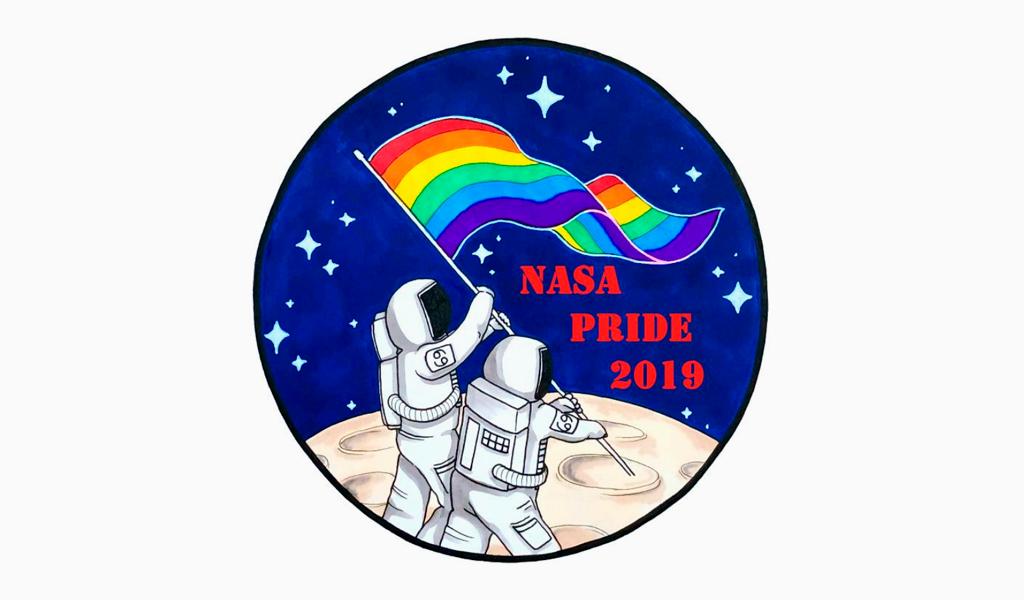 Logotipo do mês do orgulho da NASA