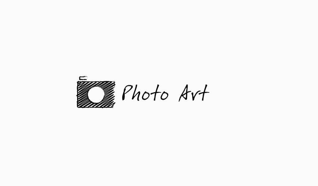 schwarz-weißes Logo Kamera