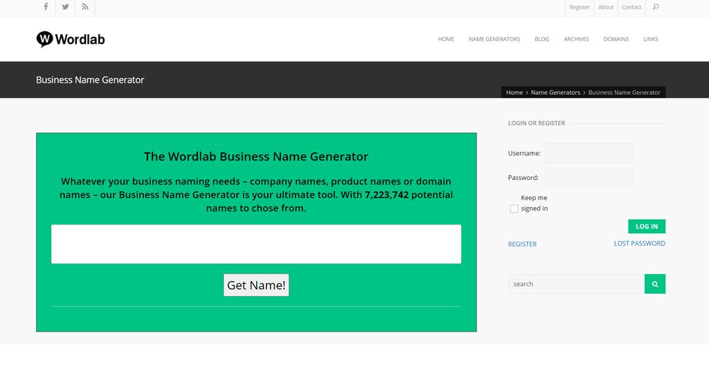 Wordlab business name generator