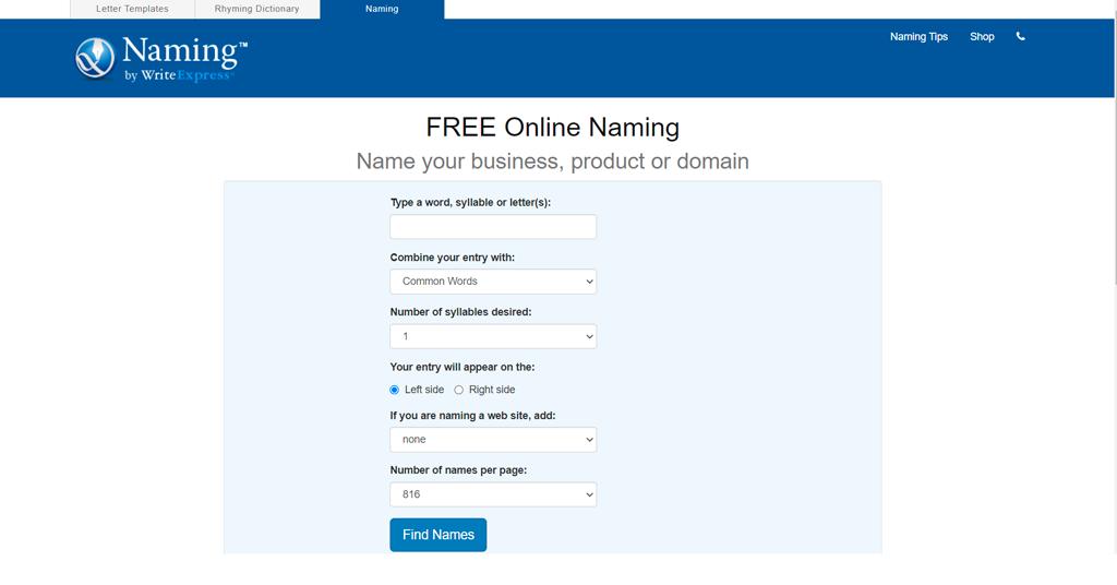 Naming Net business name generator