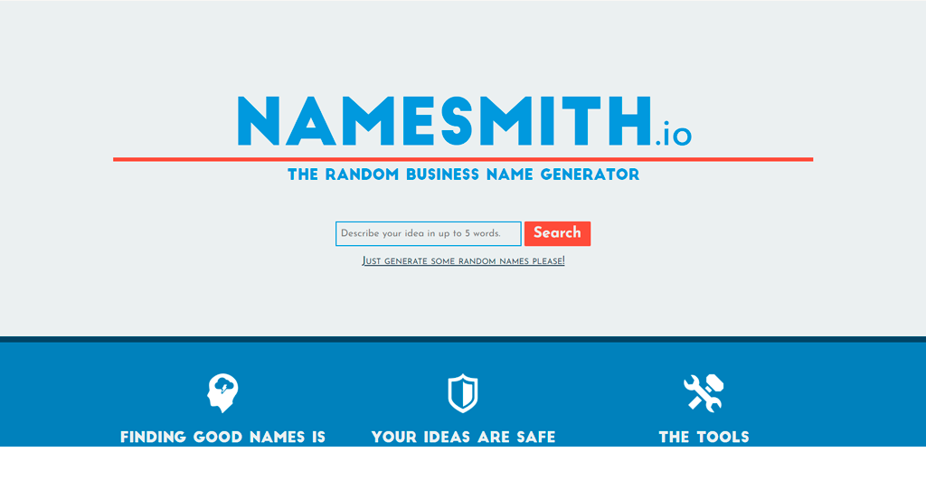 Namesmith business name generator