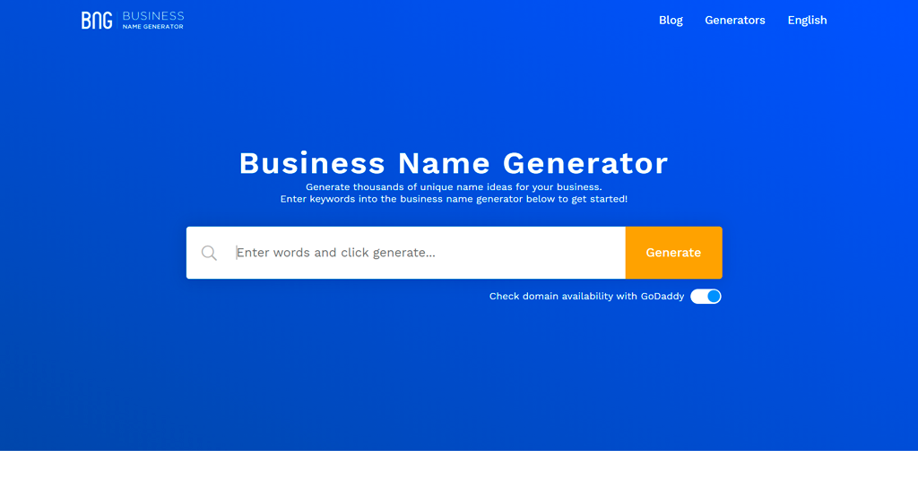 Business Name Generator BNG