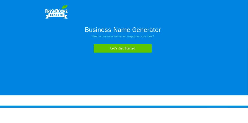 Freshbooks name generator