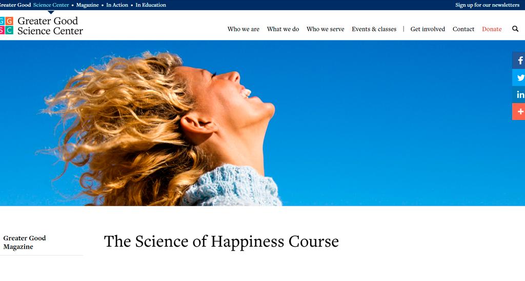 University of California, Berkeley — The Science of Happiness
