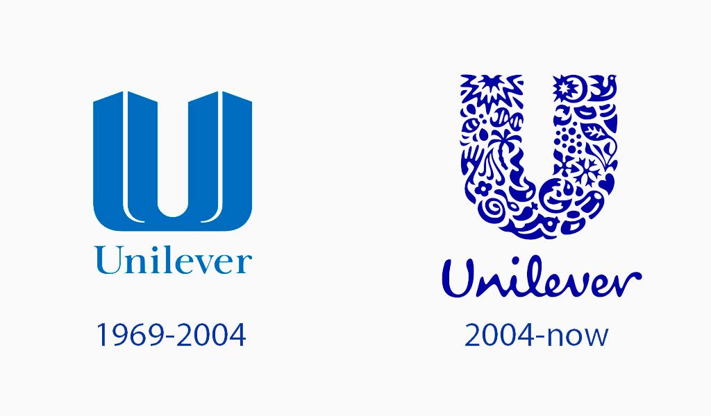 évolution du logo unilever