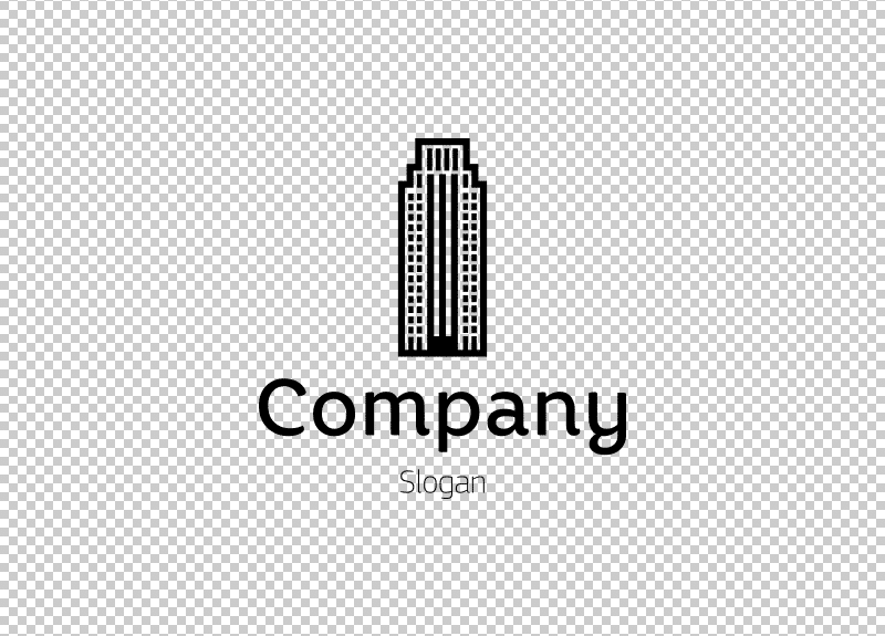 Ejemplo de logotipo transparente