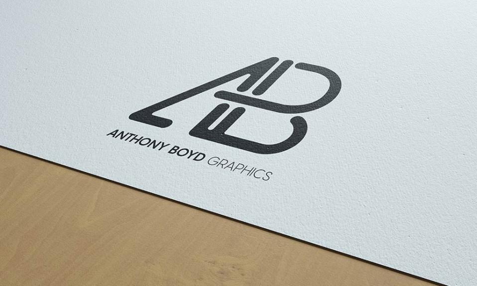 Maqueta de logotipo moderno