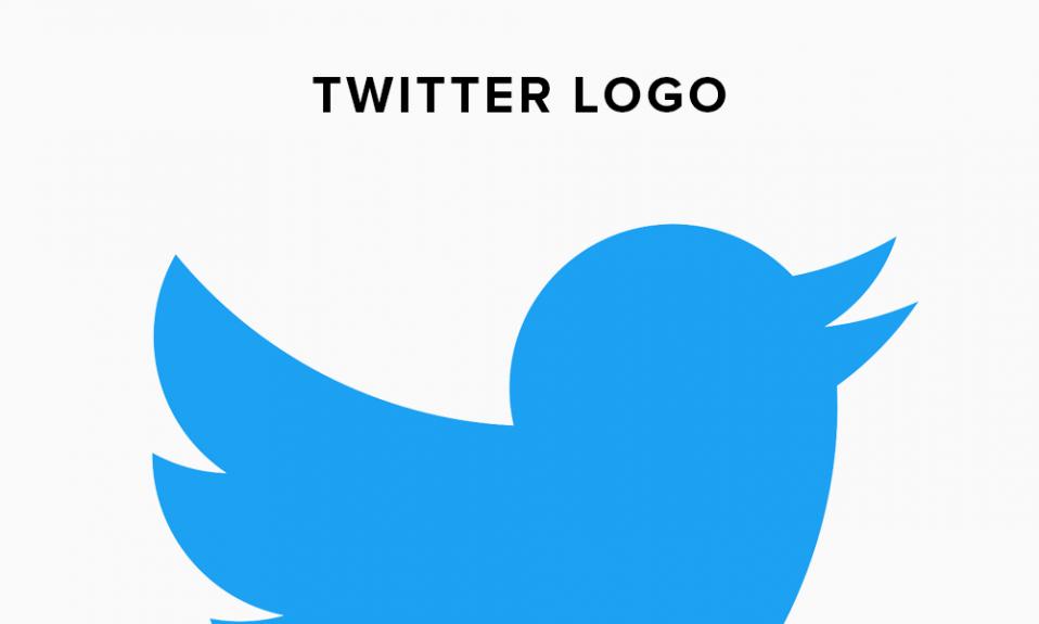 Ilustración del historial del logotipo de Twitter