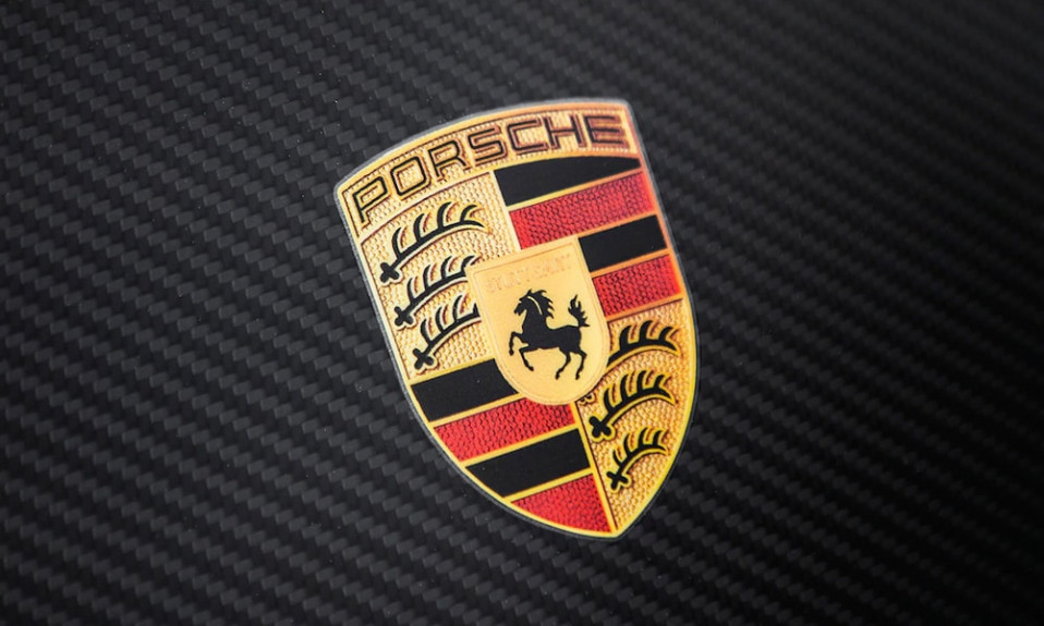Porsche logo cover