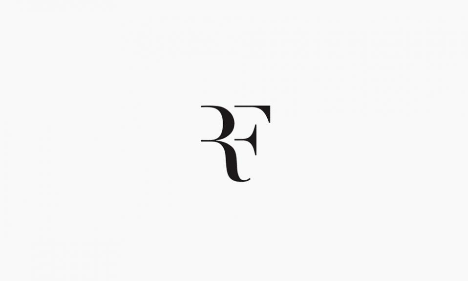 Logotipo del monograma negro