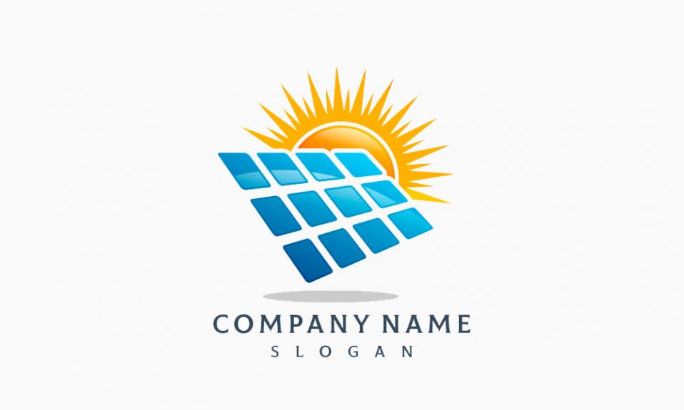 Logotipo de energía solar