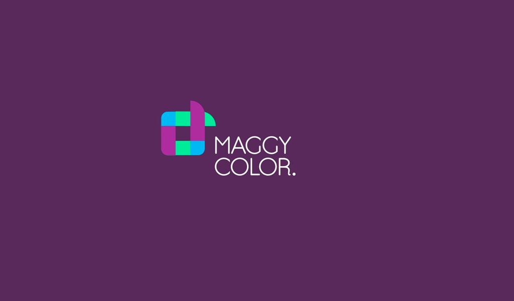 Logotipo cuadrado abstracto coloreado
