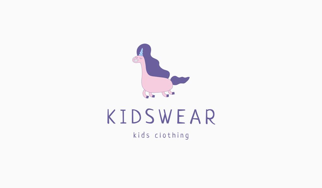 Lindo logotipo de unicornio