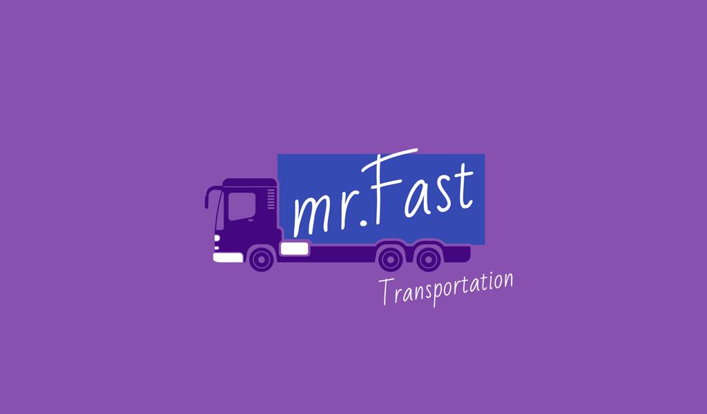 Logotipo de camión púrpura