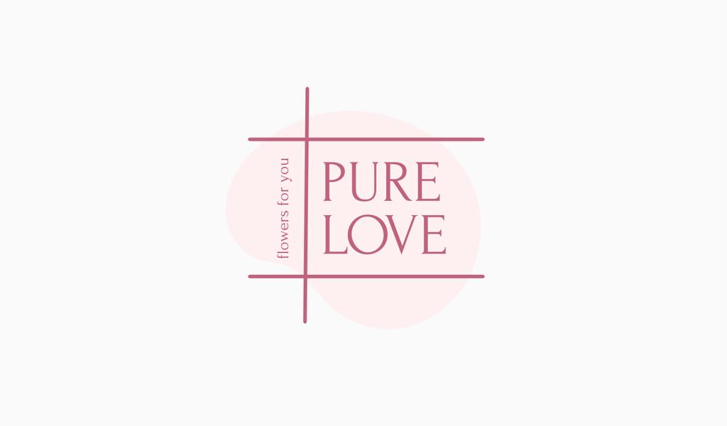 Logo de líneas rosa
