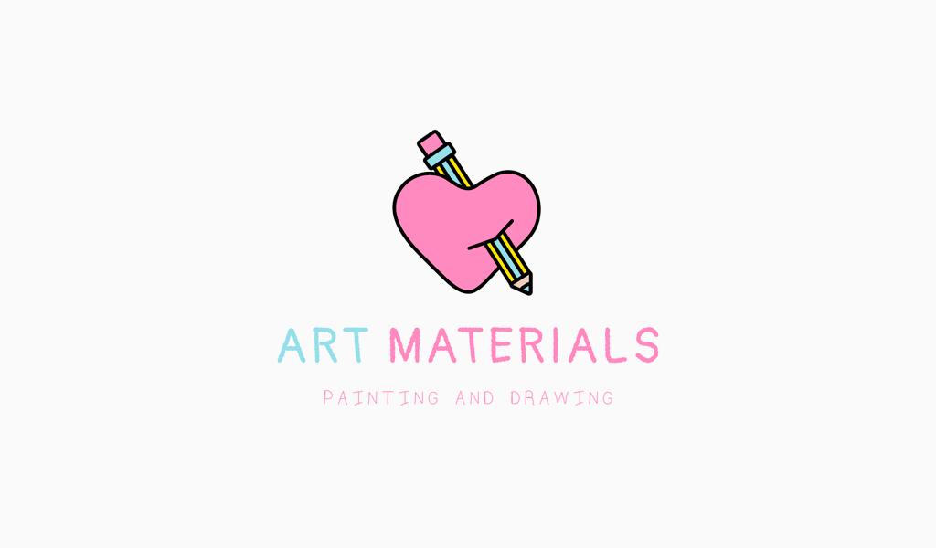 Logotipo del corazón del lápiz
