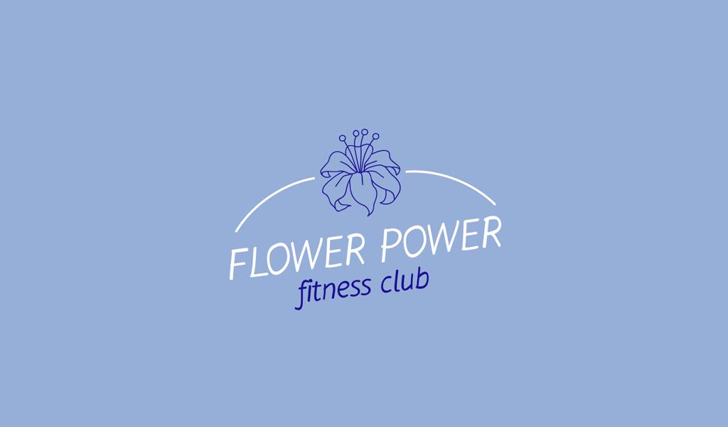 Logotipo de la flor azul