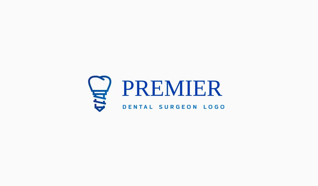 Logotipo de implante dental