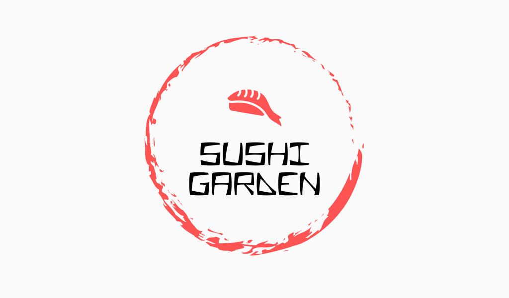 Logotipo del círculo de sushi
