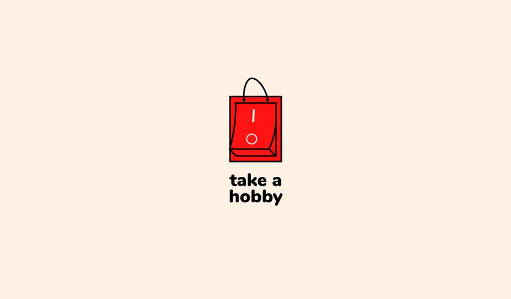 Bolso rojo con logo de botón