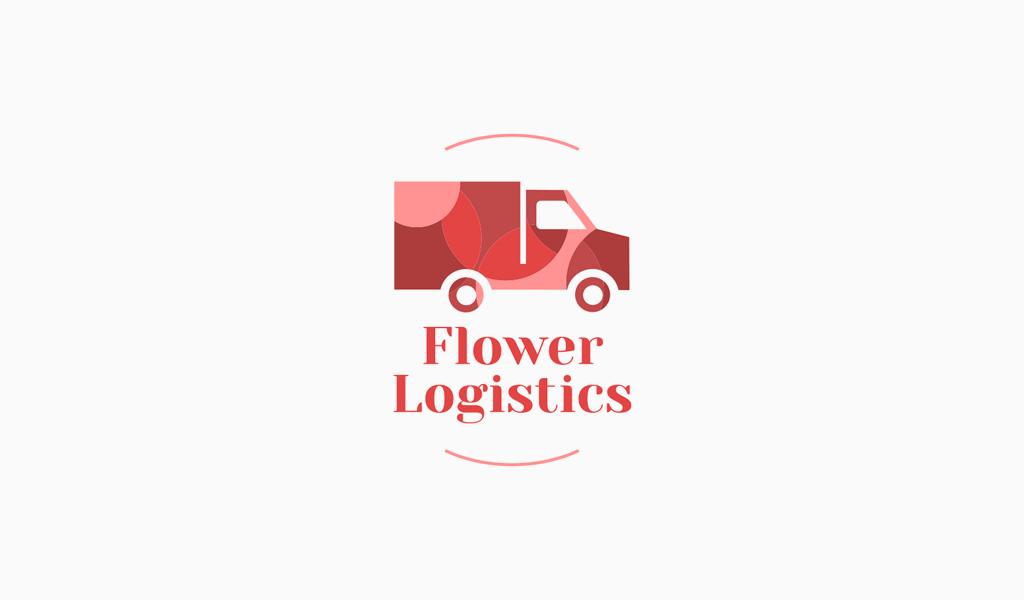 Logotipo de adorno de camión rosa
