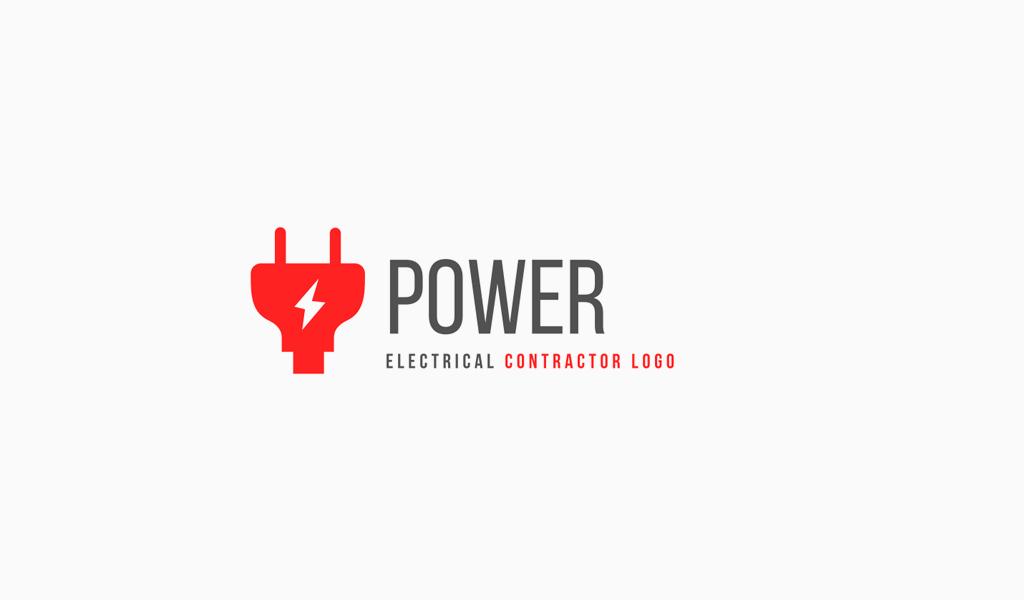 Logotipo de enchufe eléctrico