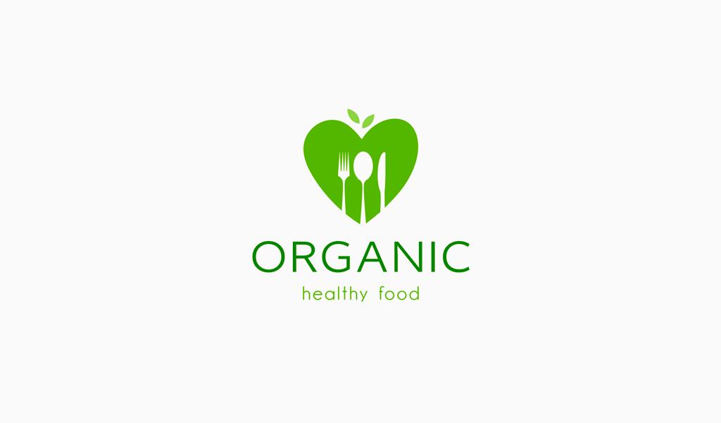 Logotipo de corazón verde