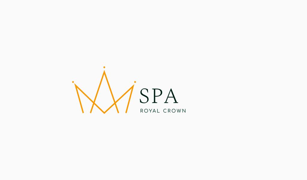 Logotipo de lujo de corona geométrica