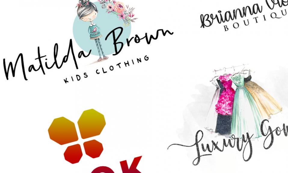 Clothes shop logos