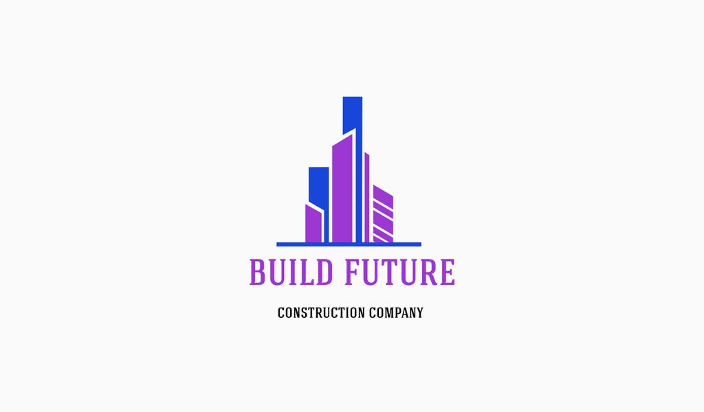 Logo de bâtiments modernes géométriques