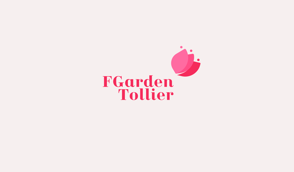 Logo de bouton de fleur rose
